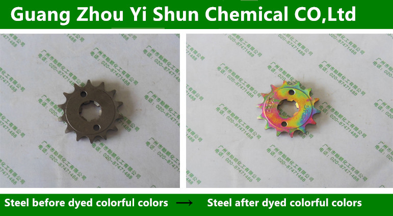 Metal coloring agent,Multicolored coloring Agent,Chemical Stain Solution